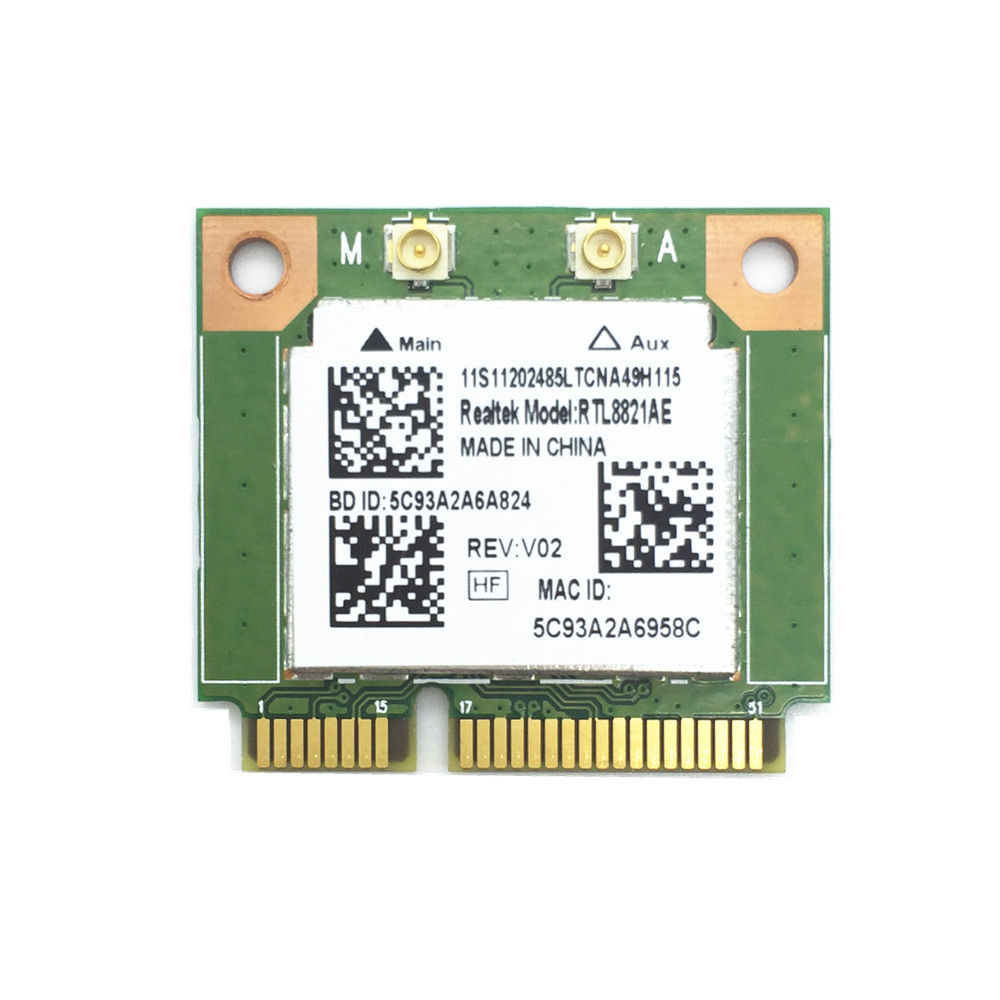 Wireless WiFi RTL8821AE 802.11a/b/g/n/ac WiFi 2.4/5.0 GHz Bluetooth 4.0 Combo Card Exceed Intel 3160