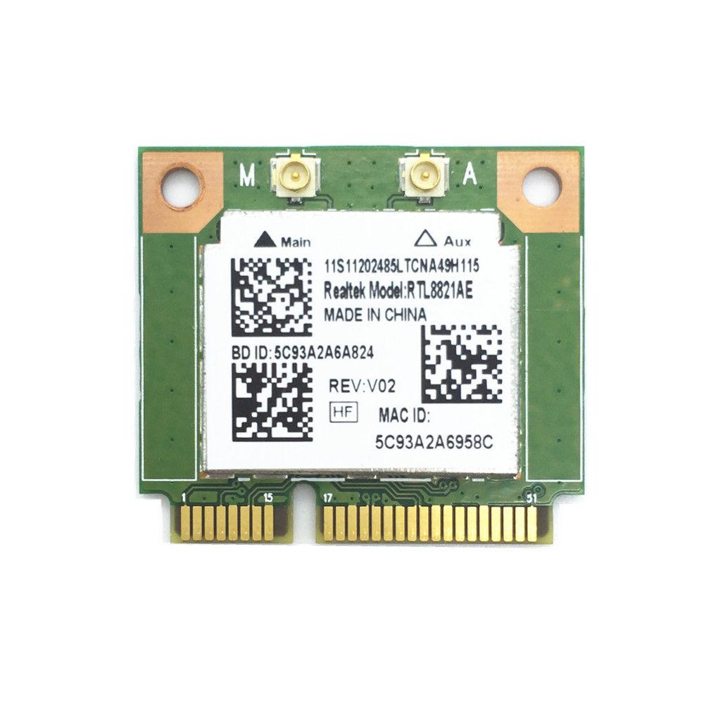 Wireless WiFi RTL8821AE 802.11a/b/g/n/ac WiFi 2.4/5.0 GHz Bluetooth 4.0 Combo Card Exceed Intel 3160