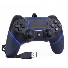 For PS4 USB Wired Controller Gamepad Joystick For Sony Playstation Gamepads Multiple Vibration 1.8M Cable For PS4 Game Accessory цена и фото
