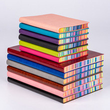 A5 A6 Soft Rainbow Paperback Notebook Custom A6 Creative Paste Core Notebook Students Thickened Diary Notebook