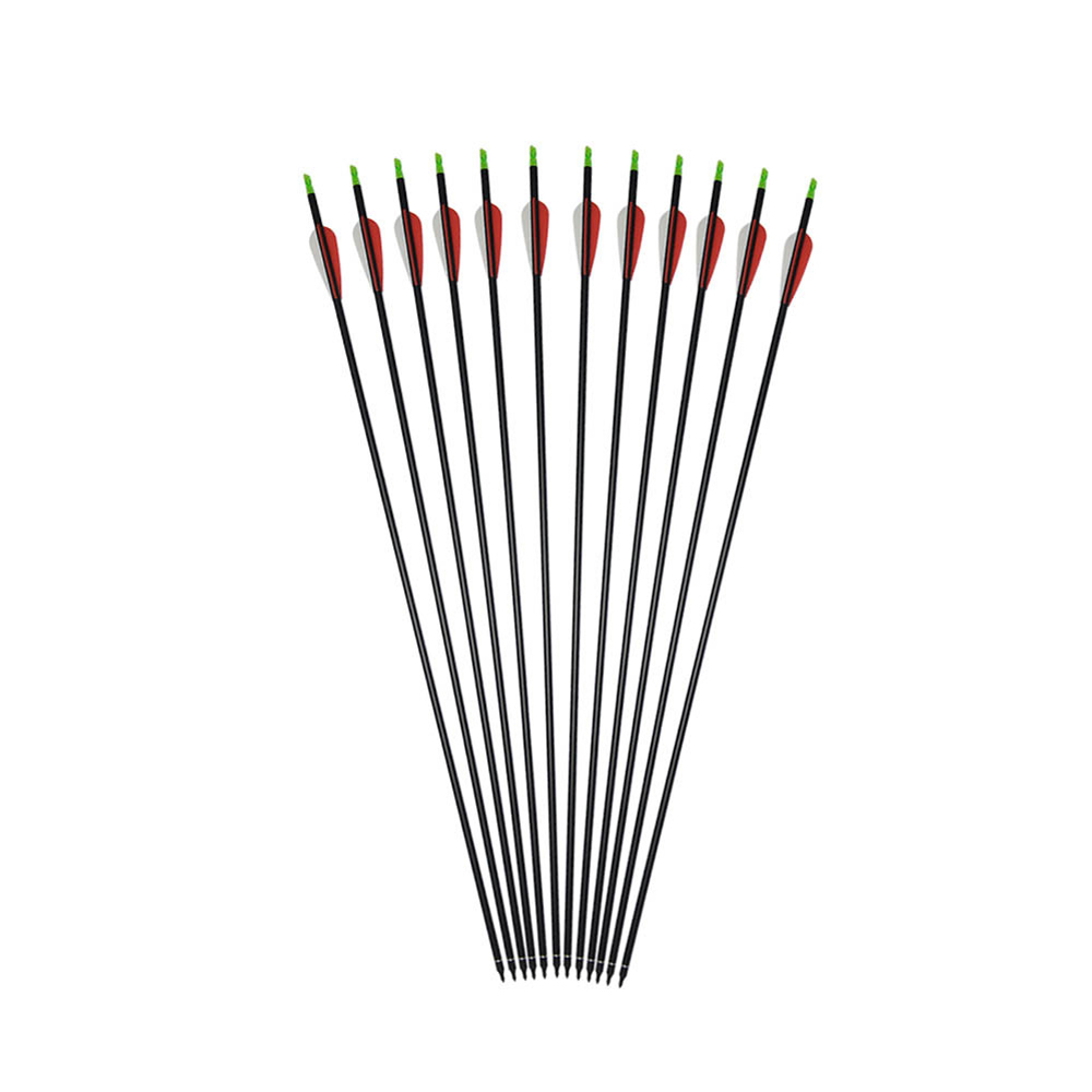 6/12/24/36Pcs CDRIC <font><b>30</b></font> Inches Carbon Arrow with Spine <font><b>500</b></font> Diameter 7.8 mm for Recurve/Compound Bows Outdoor Archery Hunting image