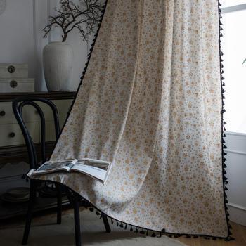 Белая Рождественская занавеска для гостиной, жалюзи для спальни, эркер, французское окно, для кухни, хлопок, лен, бронзовая, готовая занавеск...