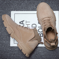 Men desert military tactical boots male Outdoor waterproof hiking shoes sneakers non slip wear sports Combat boots