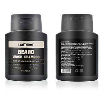 Lanthome Vitamin Wash Shampoo Hair Beard Care Men'S Gift Beard Assistance Machine Moisturiser Deep Cleansing Beard Beard Shampoo 3