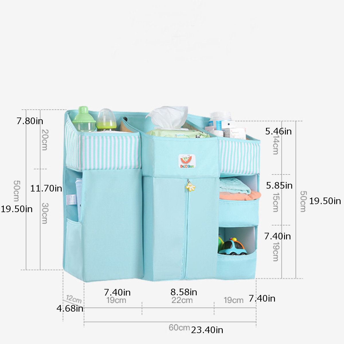 Portable Baby Crib Organizer Bed Hanging Bag for Baby Essentials Diaper Storage Cradle Bag Crib Bedding