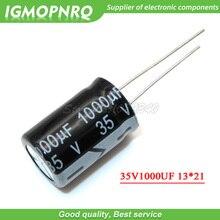 10PCS 35V1000UF 13*21mm 1000 미크로포맷 35V 13*21 알루미늄 전해 콘덴서