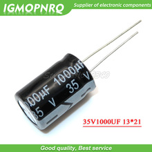 10PCS 35V1000UF 13*21mm 1000UF 35V 13*21 อลูมิเนียม Electrolytic Capacitor