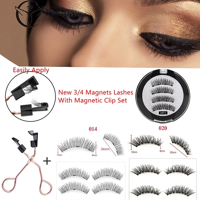 Magnetic Eyelashes Natural 3D Magnetic Eyelash No Glue, with Applicator Clip,pestañas magneticas,cils magnetique,cilios magnetic