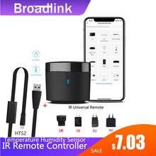 Broadlink rm4mini/rm4c min wifi ir controlador remoto para ar condicionado tv conjunto-caixa superior temperatura umidade sensor hts2 alexa