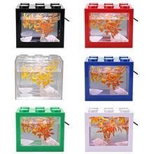 Mini Transparent Aquarium USB LED Light Lamp Fish Tank Home Office Tea Table Dec