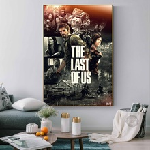 The Last of Us Silk Fabric Wall Poster Print Zombie Survival Horror Action TV Game Pitcures