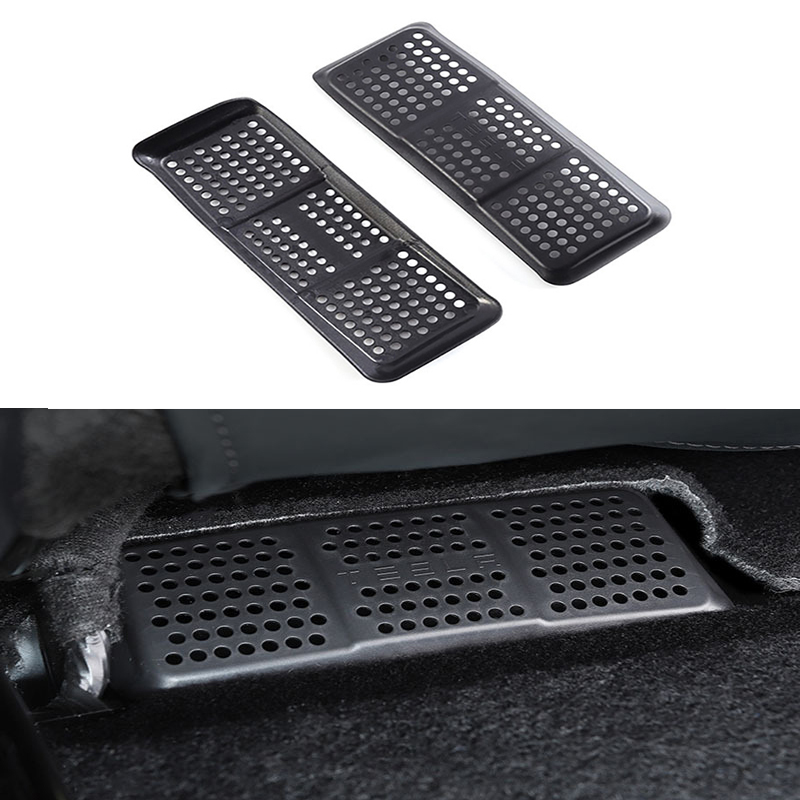 Car Accessories for Tesla model 3 Car Interior under seat air outlet dust-proof Anti-blocking cover decoration Mouldings parts