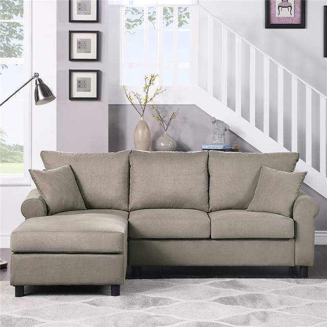 Nordic L Shaped Sectional Sofa Couch  1