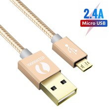 Micro USB Cable 2.4A Fast Charging USB Data Cable Mobile Phone Charging Cable 1m 2m for Samsung HTC LG Android Tablet USB Wire mini micro usb electric fan cell phone cooling for android phone for samsung for htc for lg