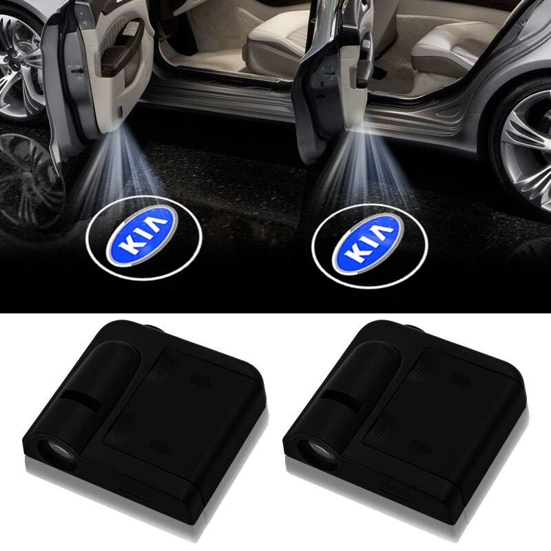 Новый беспроводной светодиодный лазерный проектор для двери автомобиля 2 шт. с логотипом Ghost Shadow Lights для kia k2 k3 k5 Sorento Sportage R Rio Soul|Декоративная лампа|   | АлиЭкспресс