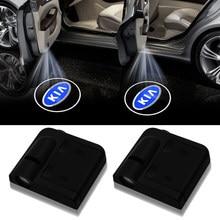 Новый беспроводной светодиодный лазерный проектор для двери автомобиля 2 шт. с логотипом Ghost Shadow Lights для kia k2 k3 k5 Sorento Sportage R Rio Soul