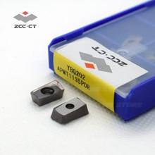 10 adet ZCCCT karbür APMT1135 PDR YBG202 zcc insert APMT tipi ZCC.CT kesme aleti freze uçları apmt1135pdr APMT1135PDER