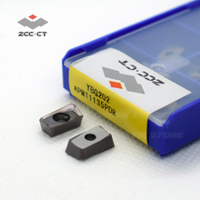 10pcs ZCCCT inserts carbide APMT1135 PDR YBG202 zcc insert APMT type ZCC.CT cutting tool milling tips apmt1135pdr APMT1135PDER