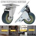 Новая продажа ПВХ ролики 4 шт. ролики сверхмощные 2/3 дюймов пневматические ролики колеса без шума колеса L9 #2