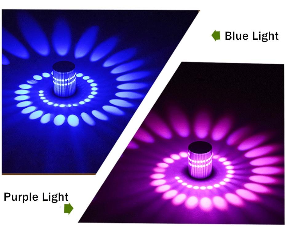 H6901ed55101a4691a4376b299e31370dj Modern LED Ceiling Light 3W RGB Porch Lamp Surface Mount Flush Lighting Fixture Balcony Corridors Living Room Decor