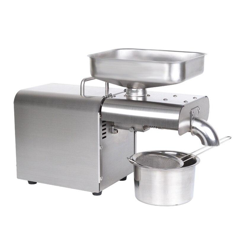 1500 Вт 110В/220В Автоматическая машина для холодного отжима масла экстрактор семян подсолнечника оливковое масло пресс