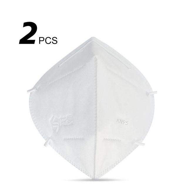 NEW N95 Mask Anti-Fog Disposable Dust Mask High Efficiency Filtration Efficient Barrier 3D Fitting White 2Pcs
