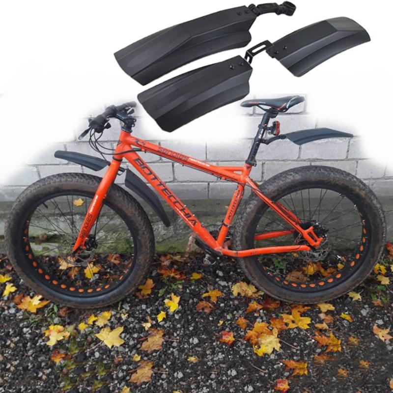 雪自転車マッドガード脂肪バイクフェンダー 2 本フロントリア用マッドガード 20 インチ 26 インチ Fatbike MTB バイクサイクリング自転車フェンダー