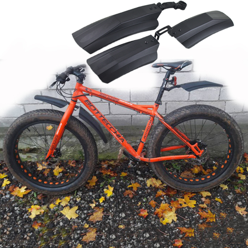 Snow Bicycle Bike Front Rear Mud Guard Fenders for 20 inch 26 inch Fat Tire