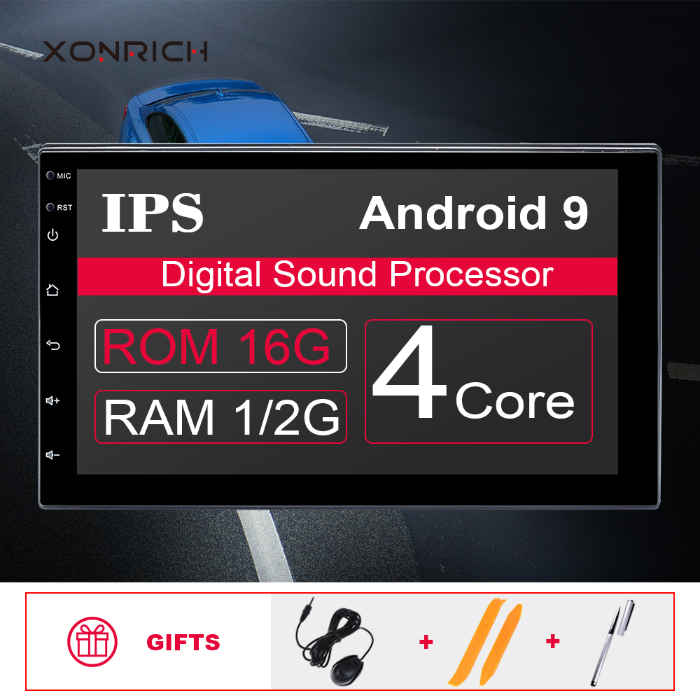 <font><b>2G</b></font> <font><b>RAM</b></font> AutoRadio 2 Din <font><b>Android</b></font> 9.0 <font><b>Car</b></font> gps navigation Universal Multimedia NO DVD Player Stereo Audio Head unit For nissan WIfi image