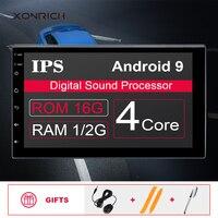 2G RAM AutoRadio 2 Din Android 9.0 Car gps navigation Universal Multimedia NO DVD Player Stereo Audio Head unit For nissan WIfi