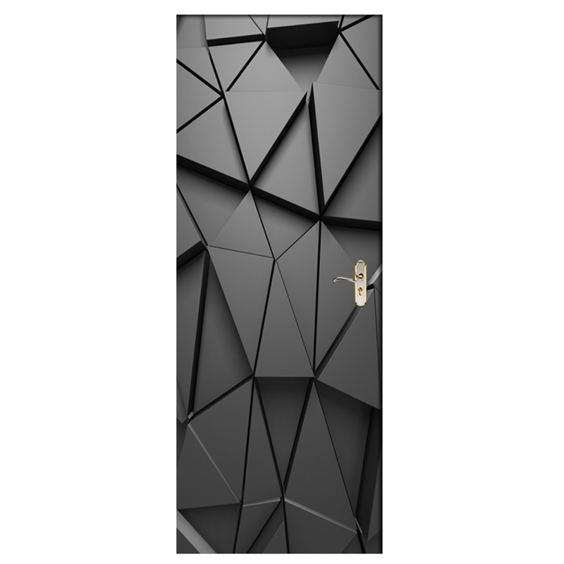 Pegatinas de puerta caliente Diy 3D Mural para sala de estar dormitorio decoración para el hogar póster Pvc autoadhesivo impermeable creativa puerta pegatina Deca Iluminación LED de araña moderna, accesorios de hierro negro 4 6 8, lámpara de techo de Rama, lámpara Industrial Vintage para sala de estar y dormitorio