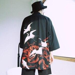 Image 5 - Yukata haori erkekler japon kimono hırka erkek samurai kostüm giyim kimono ceket mens kimono gömlek yukata haori FZ2003