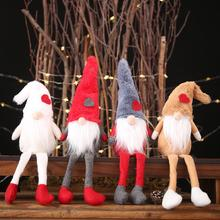 Christmas Ornaments Plush Forest  Doll Long Legs Sitting Posture Decoration Festival Hanging Supply