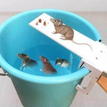 DIY do przydomowego ogrodu kontroler szkodników pułapka na szczury Quick Kill Seesaw Mouse Catcher Bait Home pułapka na szczury s mysz Pest myszy pułapki