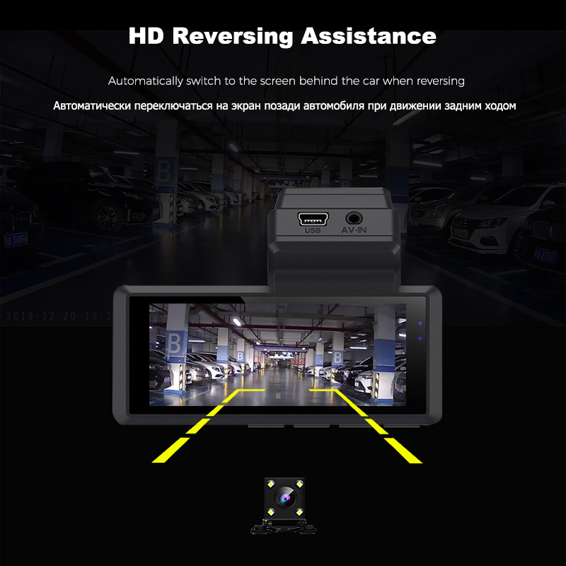 lowest price K9 Car DVR Dash Camera Rear View Video Recorder 3inch 1080P HD WDR Loop Recording G-sensor Night Vision 170     Wide Angle Dash Cam