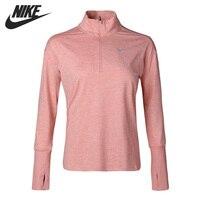 Original New Arrival NIKE AS W NK ELMNT TOP HZ Women's T shirts Long sleeve Sportswear