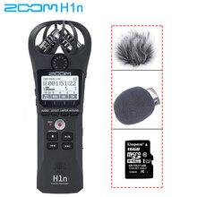 Zoom h1n handy gravador digital portátil com boya BY M1 microfone de lapela para câmera smartphone