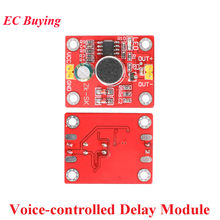 Voice-controlled Delay Module Sound Trigger Direct Drive LED Motor DIY Small Table Lamp Electric Fan Electronic Building Blocks(China)