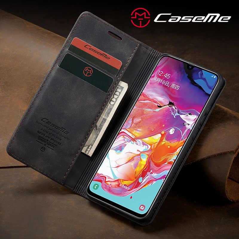 Bao Da Dành Cho Samsung Galaxy Samsung Galaxy A50 A70 A40 A30S A20E A10 A80 M10S M20 Ốp Lưng Ví Lật Sách Khe Cắm Thẻ kinh Doanh Bao Từ Tính