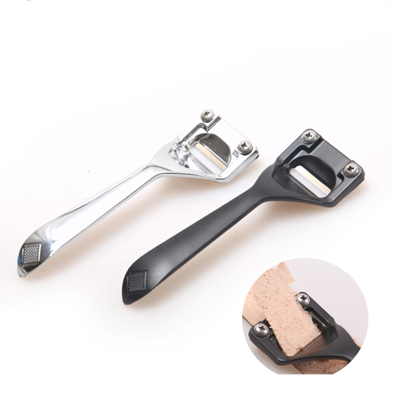 Leather Skiving Knife DIY Leather Craft Cutting Tools Practical Leather Thinning Knife Cutter Accessory One Knife With 3 Blades