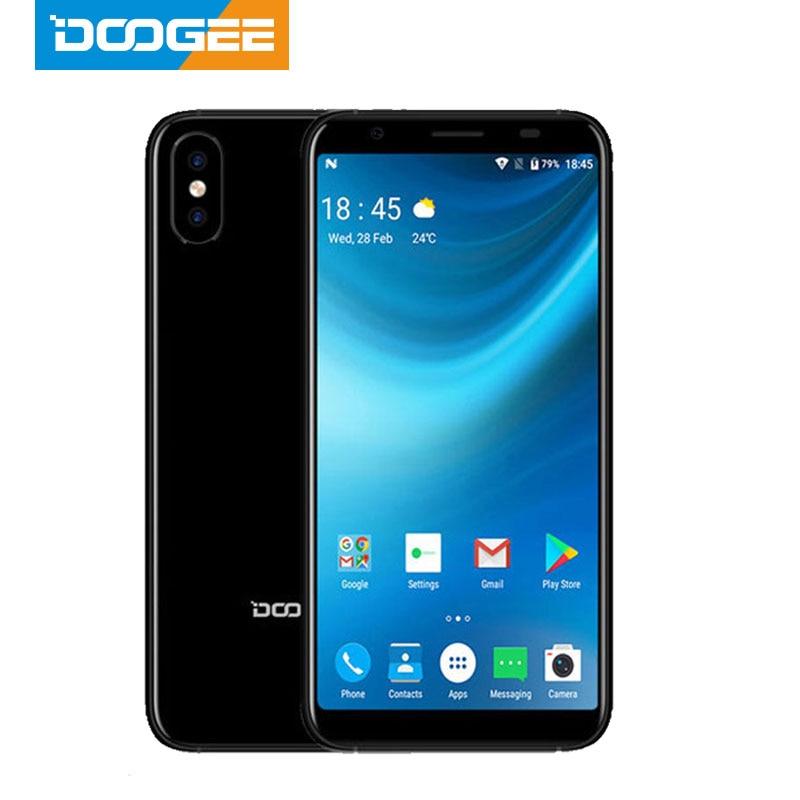 2018 DOOGEE X55 Android 7.0 5.5 Inch 18:9 HD MTK6580 Quad Core 16GB ROM Dual Camera 8.0MP 2800mAh Side Fingerprint Smartphone