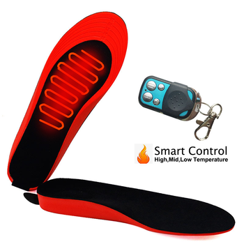 2200mAh Rechargeable Electric Heating Insoles With Remote Control Winter Warm Heated Insoles Sport Shoes Pads For Skiing Hunting