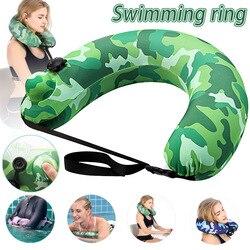 Плавательный ремень портативный надувной плавательный круг бассейн поплавок подушка для путешествий для детей взрослых B2Cshop
