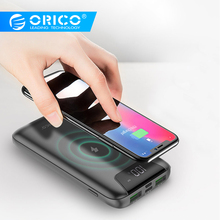 ORICO 10000mah Power Bank Wireless Charging Dual USB Powerbank with LCD Display External