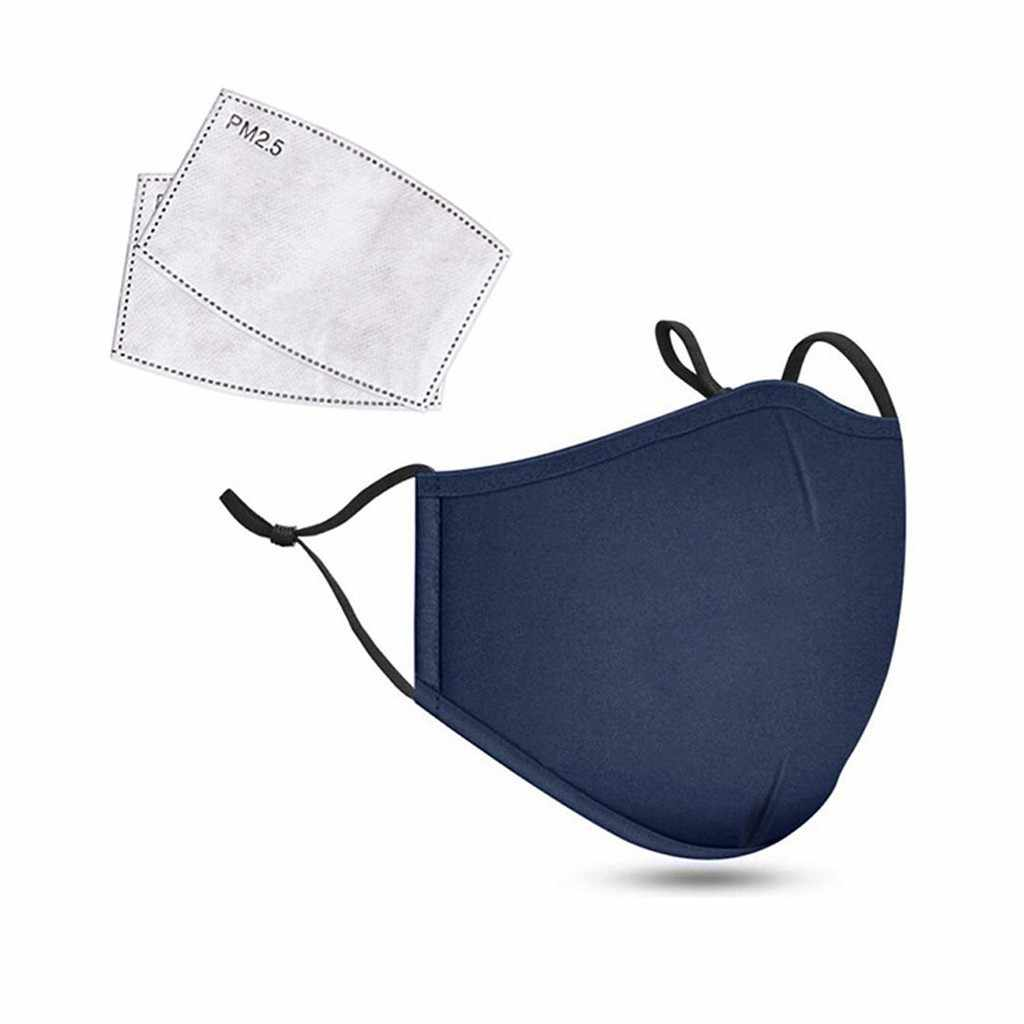 3Pcs Fashion Unisex Cotton Breath Valve PM2.5 Mouth Mask Anti-Dust Anti Pollution Mask Cloth Activated carbon filter respirator