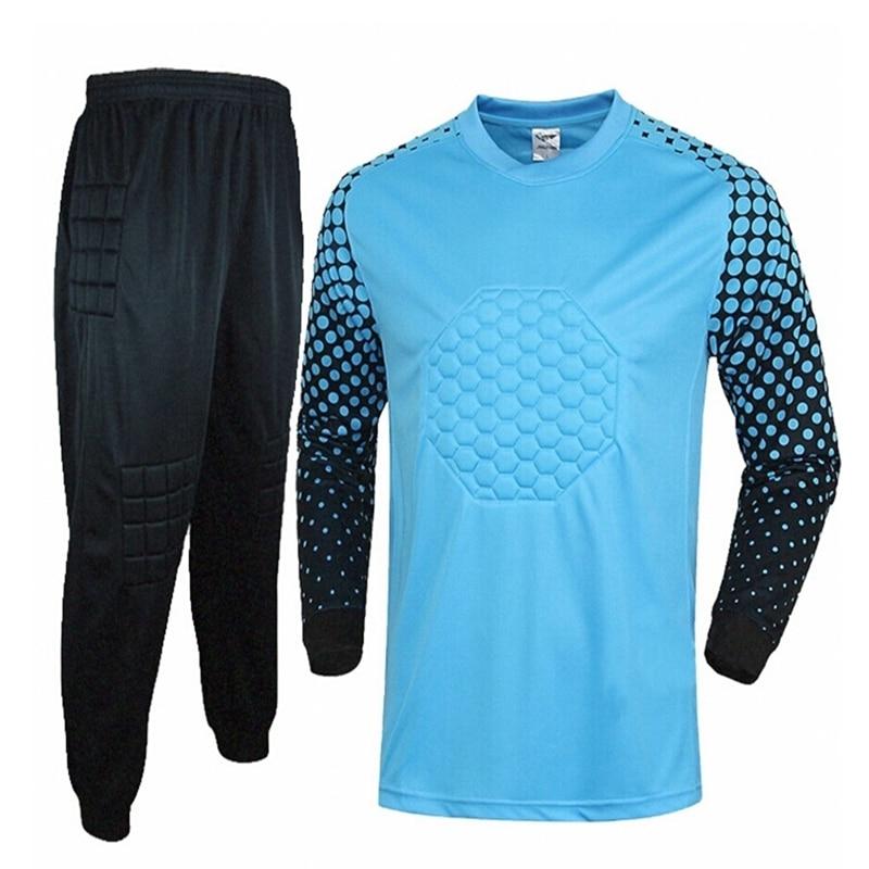 Футбольный Вратарский тренировочный матч футболка с длинным рукавом штаны Полная длина o-образным вырезом унисекс для взрослых мужчин и же...