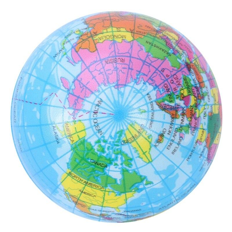 Mini Earth Globe Ball Foam Anti-stress Ball
