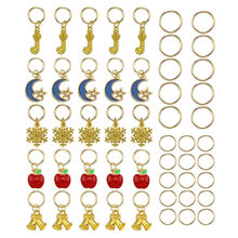 50Pcs/bag Gold Christmas Apple Hair Ring Braid Dreadlocks Bead Hair Cuffs Dread Tube Charm Dreadlock Accessaries Extension(China)