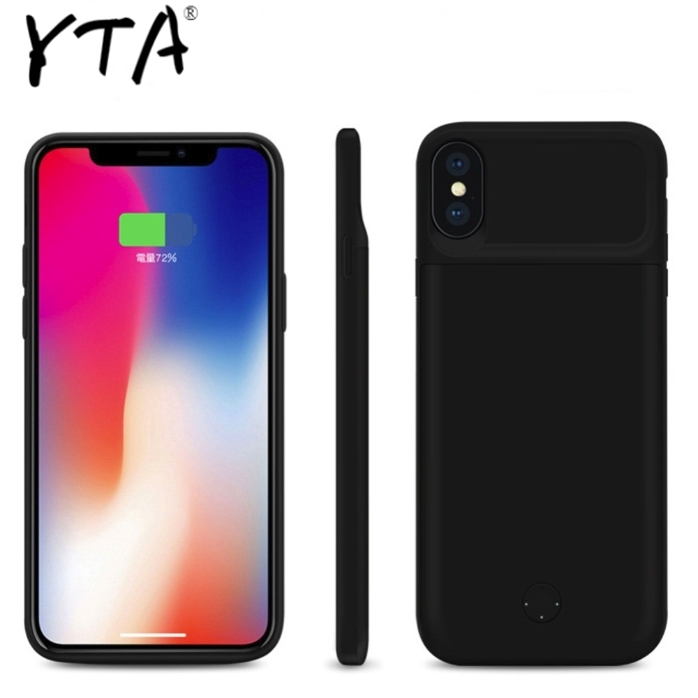 New For Iphone XS Max Battery Case Smart Charger Silica Gel Material Cover Power Bank For Iphone X XR XS Max Battery Case