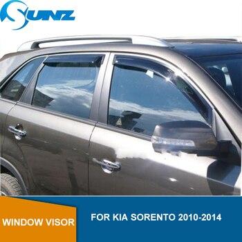 Side Window Deflector For KIA SORENTO 2010 2011 2012 2013 2014 Black Window Visor Vent Shade Sun Rain Deflector Guards  SUNZ цена 2017